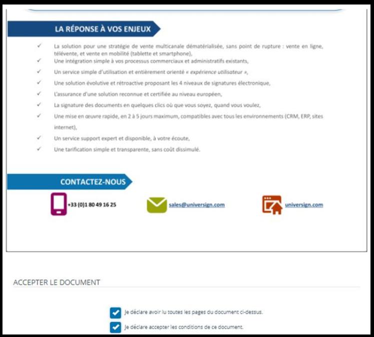 Etape 6 - Signez électroniquement un document PDF avec Universign