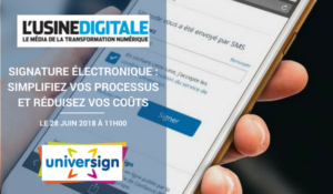 Webinar universign signature électronique