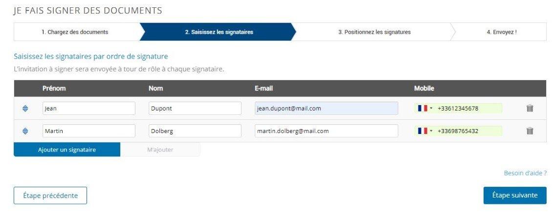Etape 2 - Signez électroniquement un document PDF