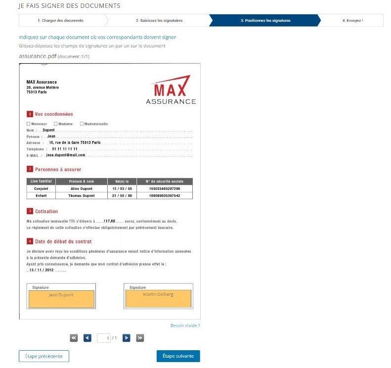 Etape 3 - Signez électroniquement un document PDF