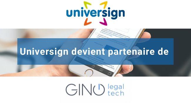 universign devient partenaire de gino legaltech 2